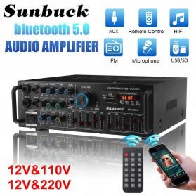 Sunbuck Audio Amplifier Bluetooth EQ Karaoke Home Theater FM Radio 2000W - AS-336BU - Black