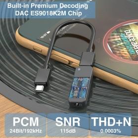 Fosi Audio Portable Headphone Amplifier USB to 3.5mm DAC ES9018K2M- Q1 - Black - 3