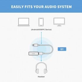Fosi Audio Portable Headphone Amplifier USB to 3.5mm DAC ES9018K2M- Q1 - Black - 5