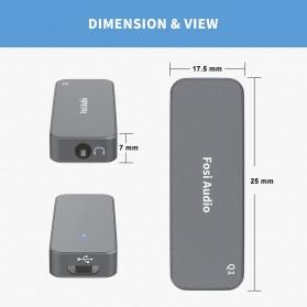 Fosi Audio Portable Headphone Amplifier USB to 3.5mm DAC ES9018K2M- Q1 - Black - 7