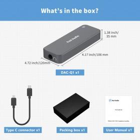 Fosi Audio Portable Headphone Amplifier USB to 3.5mm DAC ES9018K2M- Q1 - Black - 8