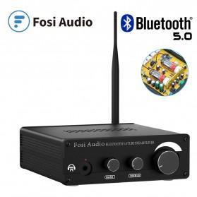 Fosi Audio Bluetooth 5.0 Preamplifier Mini HiFi Stereo Preamp Vacuum Tube - P1 Pro - Black