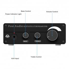 Fosi Audio Bluetooth 5.0 Preamplifier Mini HiFi Stereo Preamp Vacuum Tube - P1 Pro - Black - 2