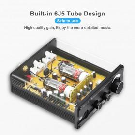 Fosi Audio Bluetooth 5.0 Preamplifier Mini HiFi Stereo Preamp Vacuum Tube - P1 Pro - Black - 4