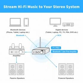 Fosi Audio Bluetooth 5.0 Preamplifier Mini HiFi Stereo Preamp Vacuum Tube - P1 Pro - Black - 6