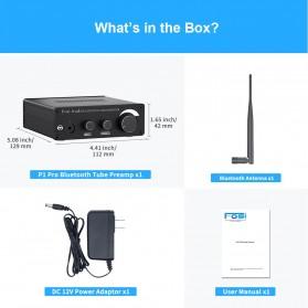 Fosi Audio Bluetooth 5.0 Preamplifier Mini HiFi Stereo Preamp Vacuum Tube - P1 Pro - Black - 7