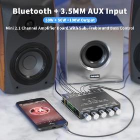 Fosi Audio Bluetooth 5.0 Amplifier 2.1 Channel Amp Receiver 2x50W + 100W Subwoofer - TB21 - Black - 3