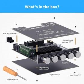 Fosi Audio Bluetooth 5.0 Amplifier 2.1 Channel Amp Receiver 2x50W + 100W Subwoofer - TB21 - Black - 4