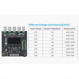 Fosi Audio Bluetooth 5.0 Amplifier 2.1 Channel Amp Receiver 2x50W + 100W Subwoofer - TB21 - Black - 7