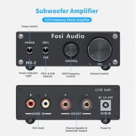 Fosi Audio Subwoofer Amplifier Mono Channel 100W TPA3116 - M02 - Black - 2