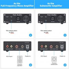 Fosi Audio Subwoofer Amplifier Mono Channel 100W TPA3116 - M02 - Black - 6