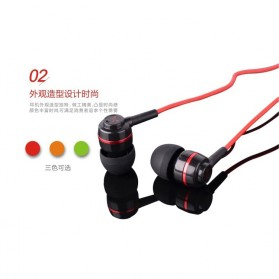 SoundMAGIC Earphones In-ear Sound Isolating Powerful Bass with Mic - ES18S - Black/Red - 2