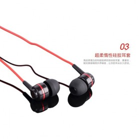 SoundMAGIC Earphones In-ear Sound Isolating Powerful Bass with Mic - ES18S - Black/Red - 3