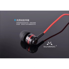 SoundMAGIC Earphones In-ear Sound Isolating Powerful Bass with Mic - ES18S - Black/Red - 6
