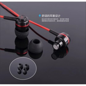 SoundMAGIC Earphones In-ear Sound Isolating Powerful Bass with Mic - ES18S - Black/Red - 7