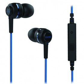 SoundMAGIC Earphones In-ear Sound Isolating Powerful Bass with Mic - ES18S - Black/Blue