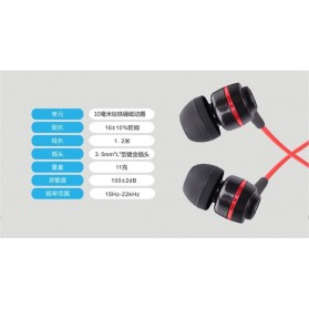 SoundMAGIC Earphones In-ear Sound Isolating Powerful Bass with Mic - ES18S - Black/Blue - 4
