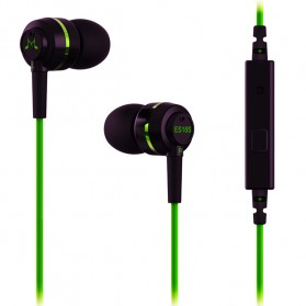 SoundMAGIC Earphones In-ear Sound Isolating Powerful Bass with Mic - ES18S - Black/Green