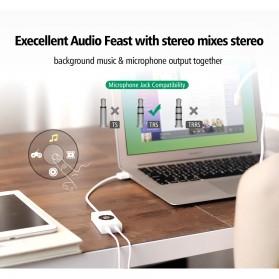 UGreen Sound Card External Laptop USB to Dual Jack 3.5mm - 30448 - White - 8