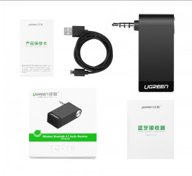 UGreen Bluetooth 4.1 Receiver With Microphone - Black - 5