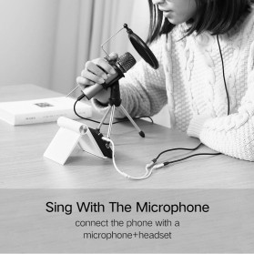 UGREEN Kabel Audio Splitter Jack 3.5mm 2 Port Earphone & Microphone - 30619 - Gray - 3