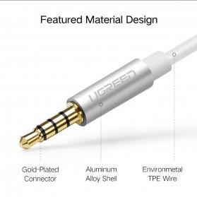 UGREEN Kabel Audio Splitter Jack 3.5mm 2 Port Earphone & Microphone - 30619 - Gray - 6