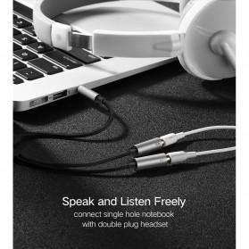 UGREEN Kabel Audio Splitter Jack 3.5mm 2 Port Earphone & Microphone - 30619 - Gray - 9