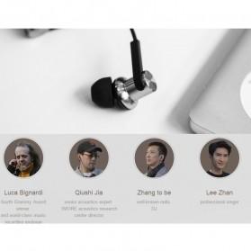 Xiaomi Quantie Hybrid Dual Driver Earphone dengan Mic (Replika 1:1) - Black - 9