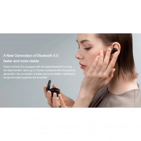 Xiaomi Redmi Airdots 2 TWS Bluetooth Earphone - TWSEJ061LS - Black - 2