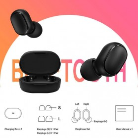 Xiaomi Redmi Airdots 2 TWS Bluetooth Earphone - TWSEJ061LS - Black - 5