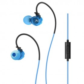 MEElectronics Sport-Fi In-Ear Headphones with Memory Wire and Inline Microphone and Remote - M3P - Blue
