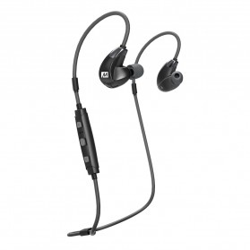 MEElectronics Stereo Bluetooth Wireless Sport In-Ear HD Headphones with Memory Wire - X7 Plus - Black