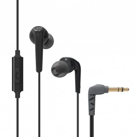 MEElectronics Comfort-Fit In-Ear Headphones Enhanced Bass with Microphones - RX18P - Black