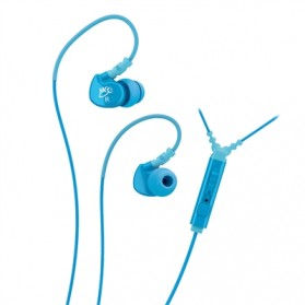 MEElectronics Sport-Fi Memory Wire In-Ear Earphones with Remote and Mic (Second Generation) - M6P - Teal Blue