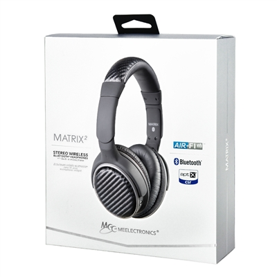 meelectronics air fi matrix2 stereo bluetooth headphones af62 black jak. Black Bedroom Furniture Sets. Home Design Ideas