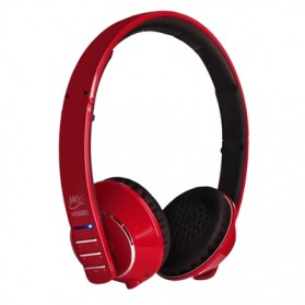 MEElectronics Air-Fi Runaway Stereo Bluetooth Wireless Headphones with Hidden Microphone - AF32 - Red