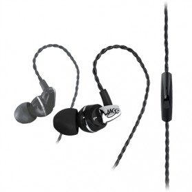 MEElectronics Balanced Armature In-Ear Headphone with Inline Microphone and Remote - A151P - Black