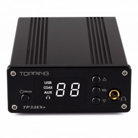 Topping TP32EX+ Portable Digital HiFi Hi-Res Amplifier+PHA+DAC 2x75W - Black