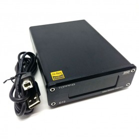 TOPPING D10 USB DAC Desktop with Line Out Optical Coaxial Output - Black - 2