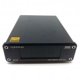 TOPPING D10 USB DAC Desktop with Line Out Optical Coaxial Output - Black - 3