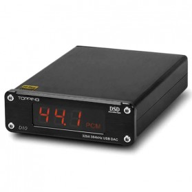 TOPPING D10 USB DAC Desktop with Line Out Optical Coaxial Output - Black - 4