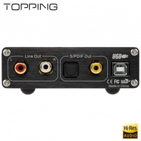 TOPPING D10 USB DAC Desktop with Line Out Optical Coaxial Output - Black - 6