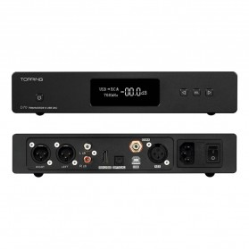 Topping D70 Digital DAC Decoding Amplifier XMOS DSD512 AK4497 - Black