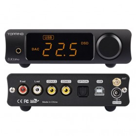 Topping DX3 Pro HiFi Desktop DAC & Headphone Amplifier Bluetooth 5.0 - Black