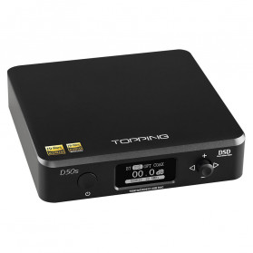 Topping D50s Pro HiFi Desktop DAC & Headphone Amplifier Bluetooth 5.0 - Black
