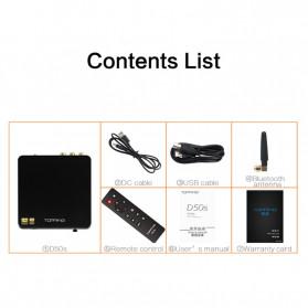 Topping D50s Pro HiFi Desktop DAC & Headphone Amplifier Bluetooth 5.0 - Black - 8