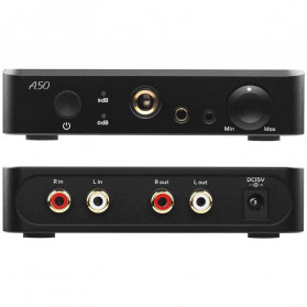 Topping A50-B Headphone Amplifier Desktop Hi-Res Balanced Output - Black - 3