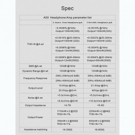 Topping A50-B Headphone Amplifier Desktop Hi-Res Balanced Output - Black - 7