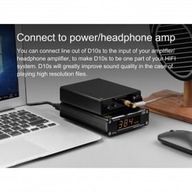 TOPPING D10s USB DAC Desktop Audio Amplifier Decoder - Black - 10