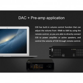Topping E30 32bit/768K DSD512 DAC Hi-Res Decoder Touch Operation with Remote Control - Black - 10